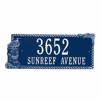 Seagull Rectangle Address Plaque - Blue and White