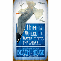 Seagull Shore Personalized Sign