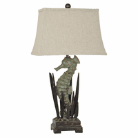 Seahorse and Seaweed Table Lamp