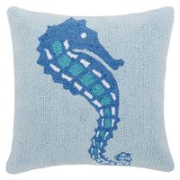 Seahorse Brothers Hooked Pillow