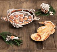 Seahorse Chip & Dip and Turtle Serving Bowl (2pcs) - OVERSTOCK