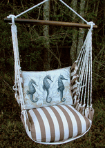 Seahorse Chocolate Stripe Swing Set