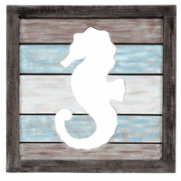 Seahorse Cutout Wall Hanging - OVERSTOCK