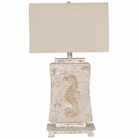 Seahorse Fossil Table Lamp