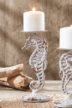 Seahorse Pillar Candle Holder - Large - CLEARANCE