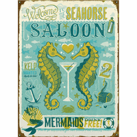 Seahorse Saloon Personalized Signs