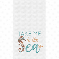 Seahorse Sea Waffle Weave Towels - Set of 6