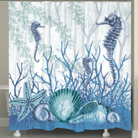 Seahorse & Shell Sanctuary Shower Curtain