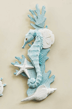 Seahorse & Shell Wall Art - Left Facing