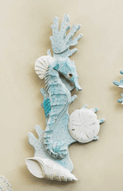 Seahorse & Shell Wall Art - Right Facing