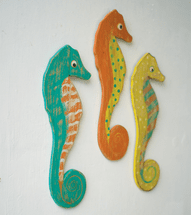 Seahorse Trio Wall Hangings - CLEARANCE
