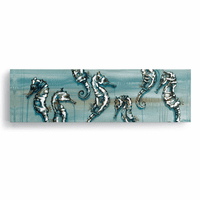 Seahorses Canvas Wall Art