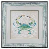 Sealife Crab Framed Art