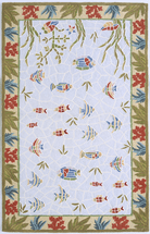 Sealife Mosaic Hooked Rug Collection