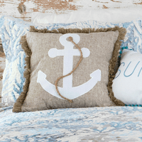 Seascape Coral Anchor Pillow