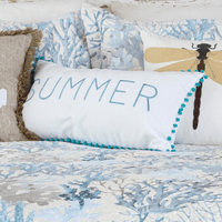 Seascape Coral Summer Pillow