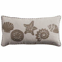 Seashell Collection Embroidery Pillow