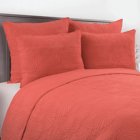 Seashell Coral Quilt Set - Full/Queen