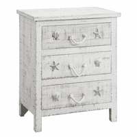 Seashell & Rope Three Drawer Chest