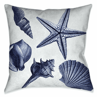 Seashell Shore 18 x 18 Outdoor Pillow