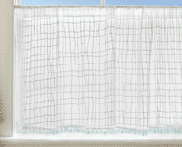 Seaside Breeze Lace Window Tier with Trim - 45 x 36 - OVERSTOCK