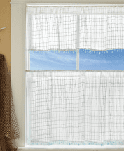 Seaside Breeze Lace Window Treatments