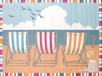 Seaside Chairs Rug Collection