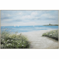 Seaside Flowers Canvas Wall Art