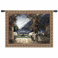 Seaside Fountain Small Wall Tapestry