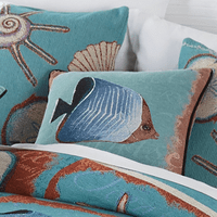Seaside Hideaway Fish Accent Pillow - CLEARANCE
