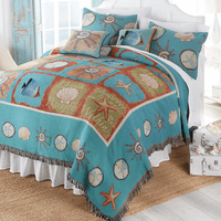 Seaside Hideaway Tapestry Coverlet - King - CLEARANCE