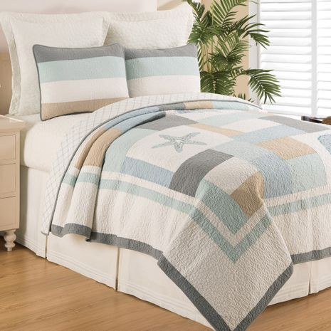 Seaside Morning Quilt Set - King