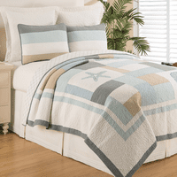 Seaside Morning Quilt Set - Twin -  OVERSTOCK