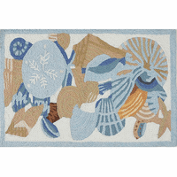 Seaside Souvenirs Indoor/Outdoor Rug