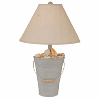 Seaside Villa Bucket of Shells Table Lamp