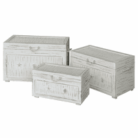 Seaside White Shell Trunks - Set of 3