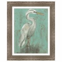 Seaspray Heron I Framed Print