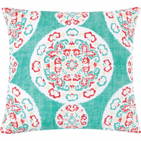 Serendipity Aqua Medallion Pillow