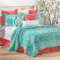 Serendipity Aqua Quilt Bedding Collection