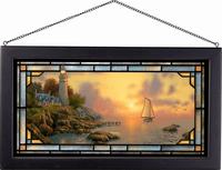 Serene Sea Stained Glass Art