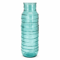 Serene Waves Large Recycled Glass Vase