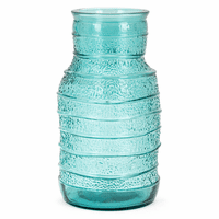 Serene Waves Small Recycled Glass Vase