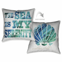 Serene Words Pillow
