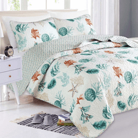 Serenity Shells Quilt Set - King - CLEARANCE