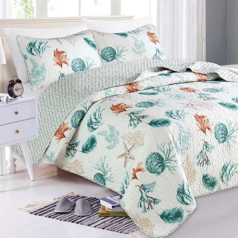 Serenity Shells Quilt Set - Twin - CLEARANCE