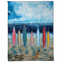Seven Surfboards Fleece Blanket