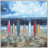 Seven Surfboards Gallery Wrapped Canvas