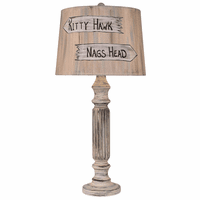 Shabby Summer Ribbed Table Lamp with Personalized Shade