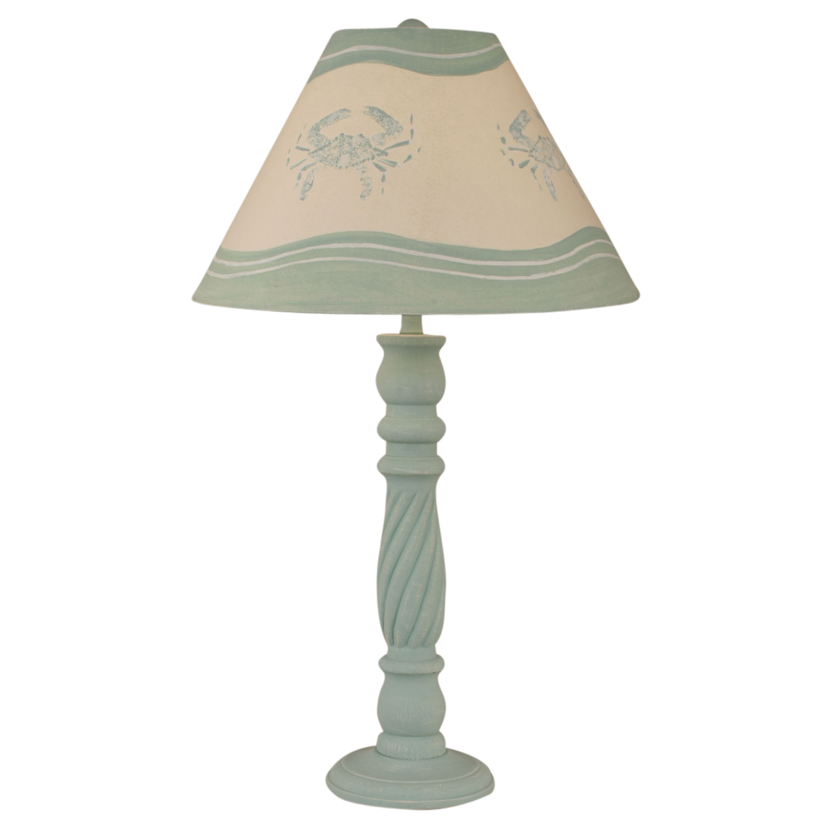 Beach Table Lamps Shaded Cove Swirl Table Lamp With Crab