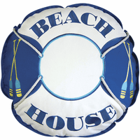 Shaped Beach House Preserver Pillow